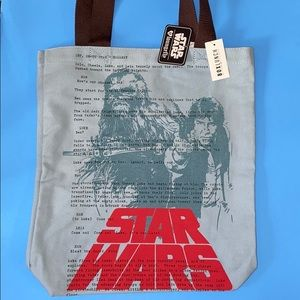 NWT DISNEY STAR WARS LOUNGE FLY canvas tote